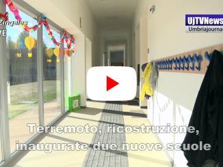 Terremoto, commissario Farabollini inaugura le scuole di Giano dell'Umbria e Foligno
