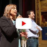 Elezioni Umbria, Matteo Salvini a Gubbio presenta la squadra di Tesei