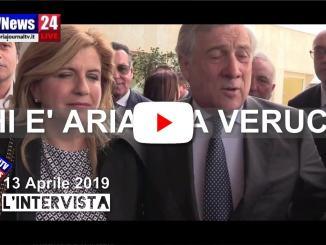 Intervista Antonio Tajani presenta Arianna Verucci, maga del cioccolato