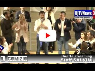 L'intera diretta streaming, di Matteo Salvini, dall'Auditirium Sant'Angelo di Bastia Umbra