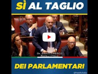 Taglio parlamentari è legge, dichiarazione di voto di Emanuele Prisco