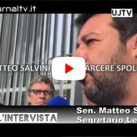 Matteo Salvini visita il carcere di Spoleto, intervista
