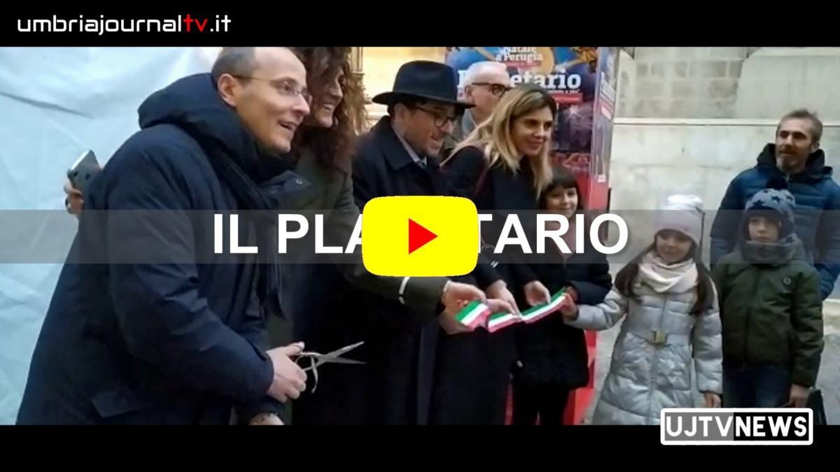 Inaugurato in piazza Matteotti a Perugia il planetario didattico