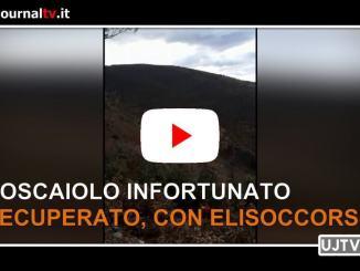 Boscaiolo infortunato recuperato da soccorso alpino e speleologico e da elisoccorso 118