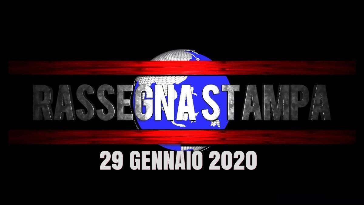 Video rassegna stampa del 29 gennaio 2020 prime di copertina
