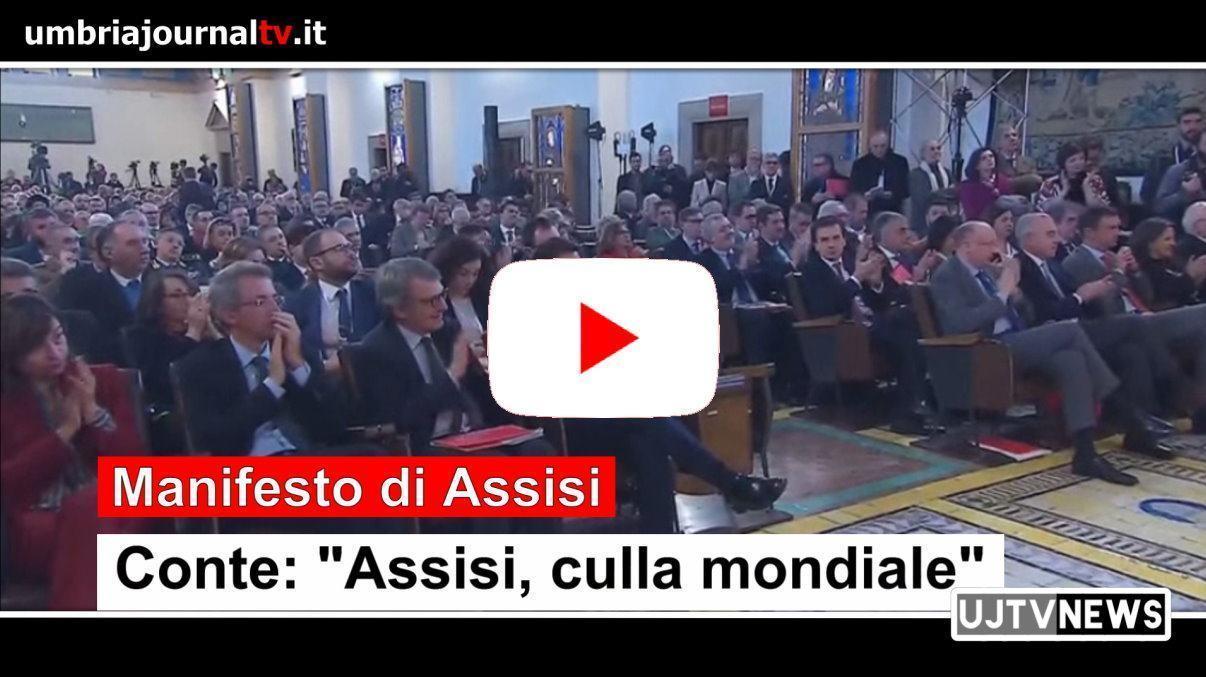 """Manifesto, Conte: """"Assisi e' la culla mondiale della cura del pianeta"""""""