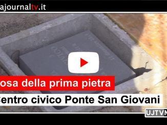 Nuovo Centro Civico di Ponte San Giovanni, la posa della prima pietra
