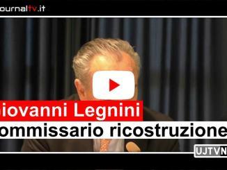 Prime immagini di Giovanni Legnini commissario straordinario ricostruzione