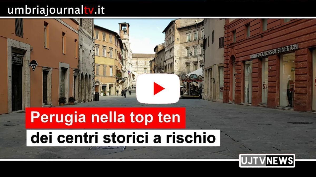 Centri storici a rischio declino commerciale, Perugia nella top ten