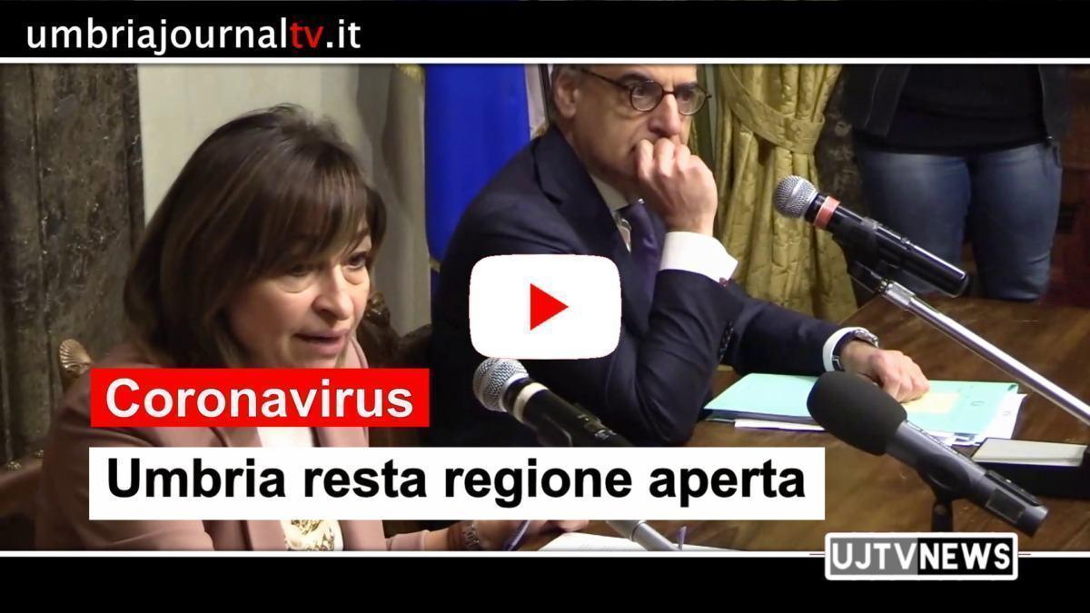 """Coronavirus, regione Umbria resta aperta, Tesei: """"Ma siamo pronti"""""""