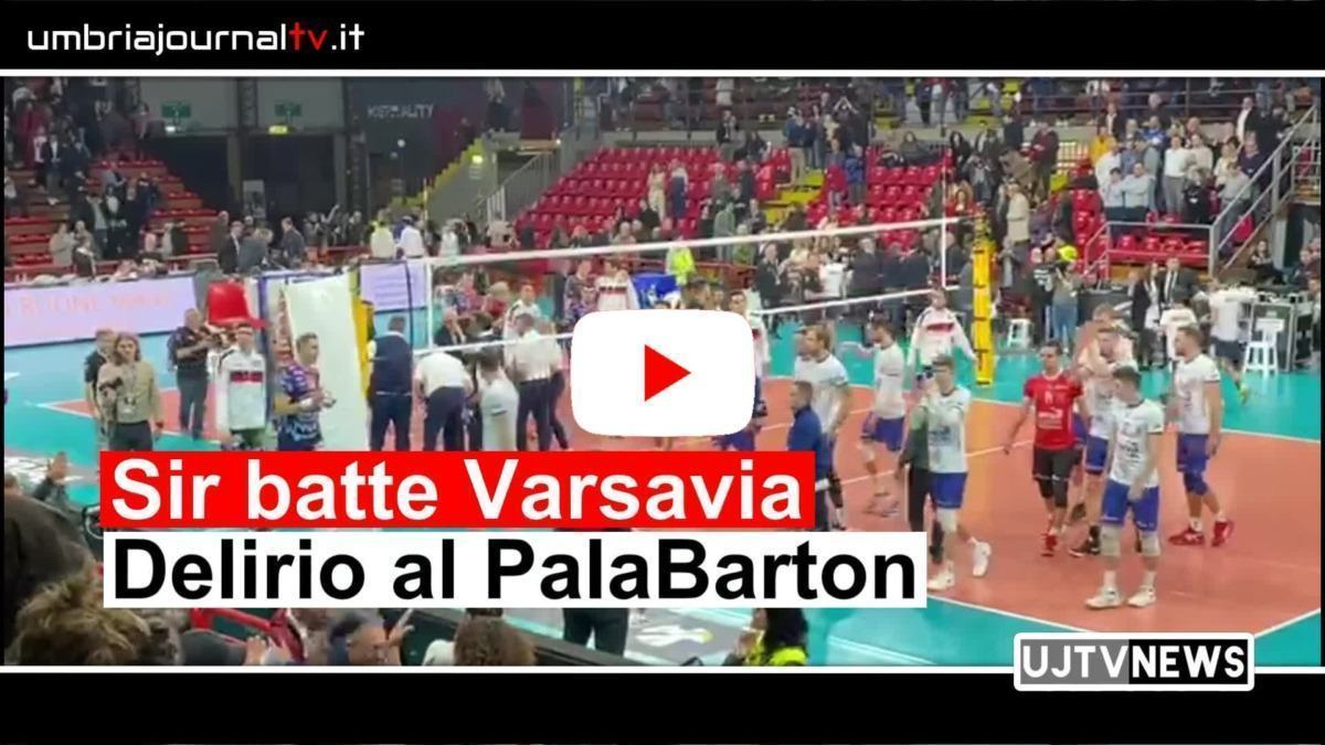 Sir Sicoma volley batte Varsavia video del delirio al PalaBarton