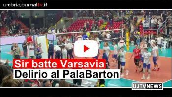 Sir Sicoma volley batte Varsavia video del delirio al PalaBarton