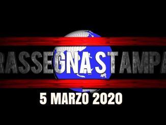 La video rassegna stampa di giovedì 5 marzo 2020