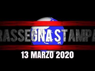 La video rassegna stampa di venerdì 13 marzo 2020
