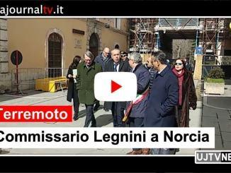 Terremoto, commissario Legnini visita Norcia e incontra sindaci cratere