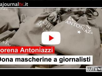 Lorena Antoniazzi dona mascherine alle redazioni giornalistiche umbre