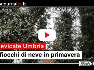 Maltempo, nevica anche a Perugia, oltre che Assisi e Bastia