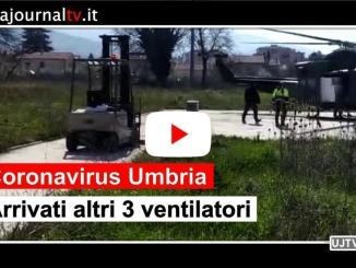Coronavirus, arrivati altri 3 ventilatori polmonari in Umbria