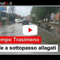 Maltempo Trasimeno, Castiglione del Lago allagata per via della pioggia