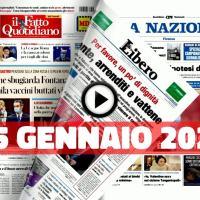 Video rassegna stampa pdf prime pagine giornali 25 gennaio 2021