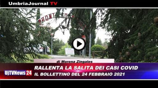 Telegiornale dell'Umbria edizione della sera Tg, 24 febbraio 2021 mercoledì