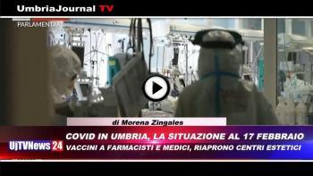Telegiornale dell'Umbria edizione della sera Tg, 17 febbraio 2021 mercoledì