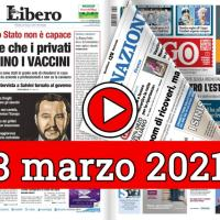 8 marzo 2021, la video rassegna stampa dei giornali in pdf