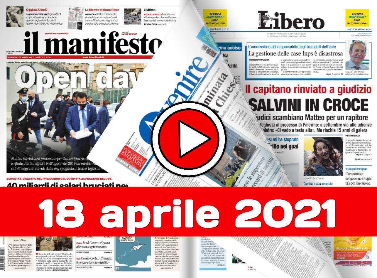 Rassegna stampa da sfogliare 18 aprile 2021 giornali in pdf