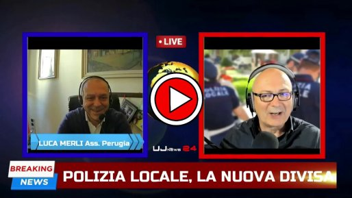 Polizia locale Perugia in divisa estiva - Intervista a Luca Merli, assessore comunale