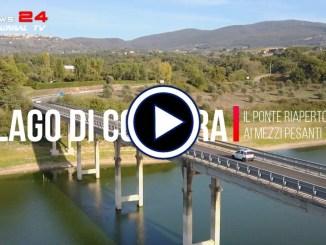 Lago di Corbara, il ponte riaperto ai mezzi pesanti