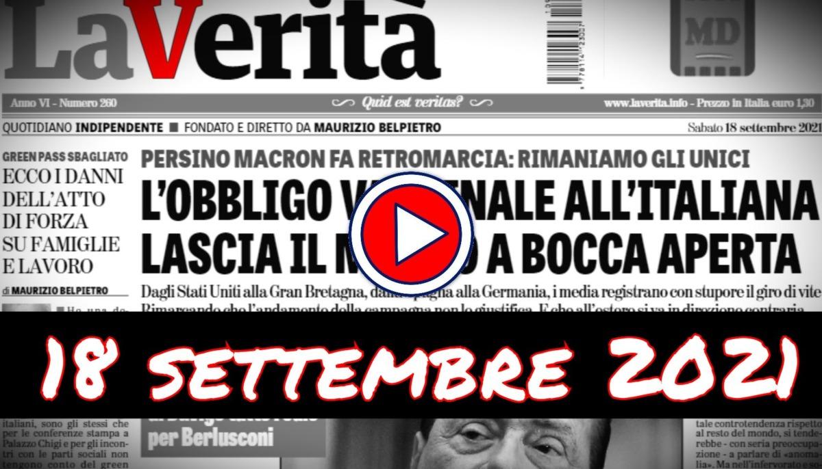 Video rassegna stampa del 18 settembre 2021 sabato giornali pdf