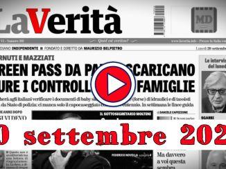 Video rassegna stampa 20 settembre 2021 giornali in pdf UmbriajournalTV