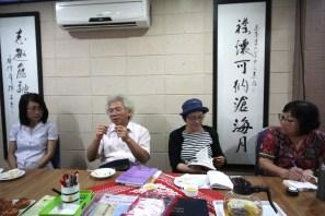 尤煌杰教授(左二)分享身为期刊主编的心得。