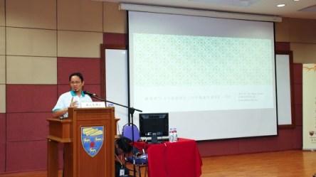 """郑文泉副教授分享""""我怎样写《马来西亚近200年儒家学术史》一书?""""。"""