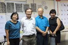 系友与王介英老师(左二)及杨清龙老师(右二)合照。