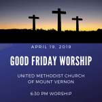 Good Friday Worship on April 19 @ 6:30 pm