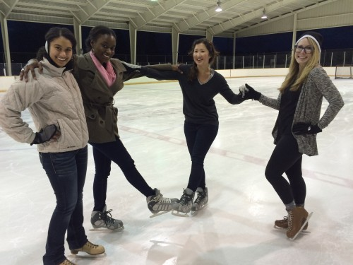 Quick ice skating break during the last few weeks of school. In case med school doesn't work out...