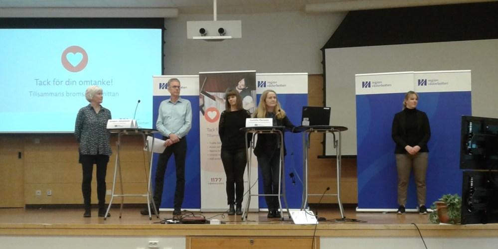 Västerbotten officials at today's coronavirus press conference. -Umeå Today
