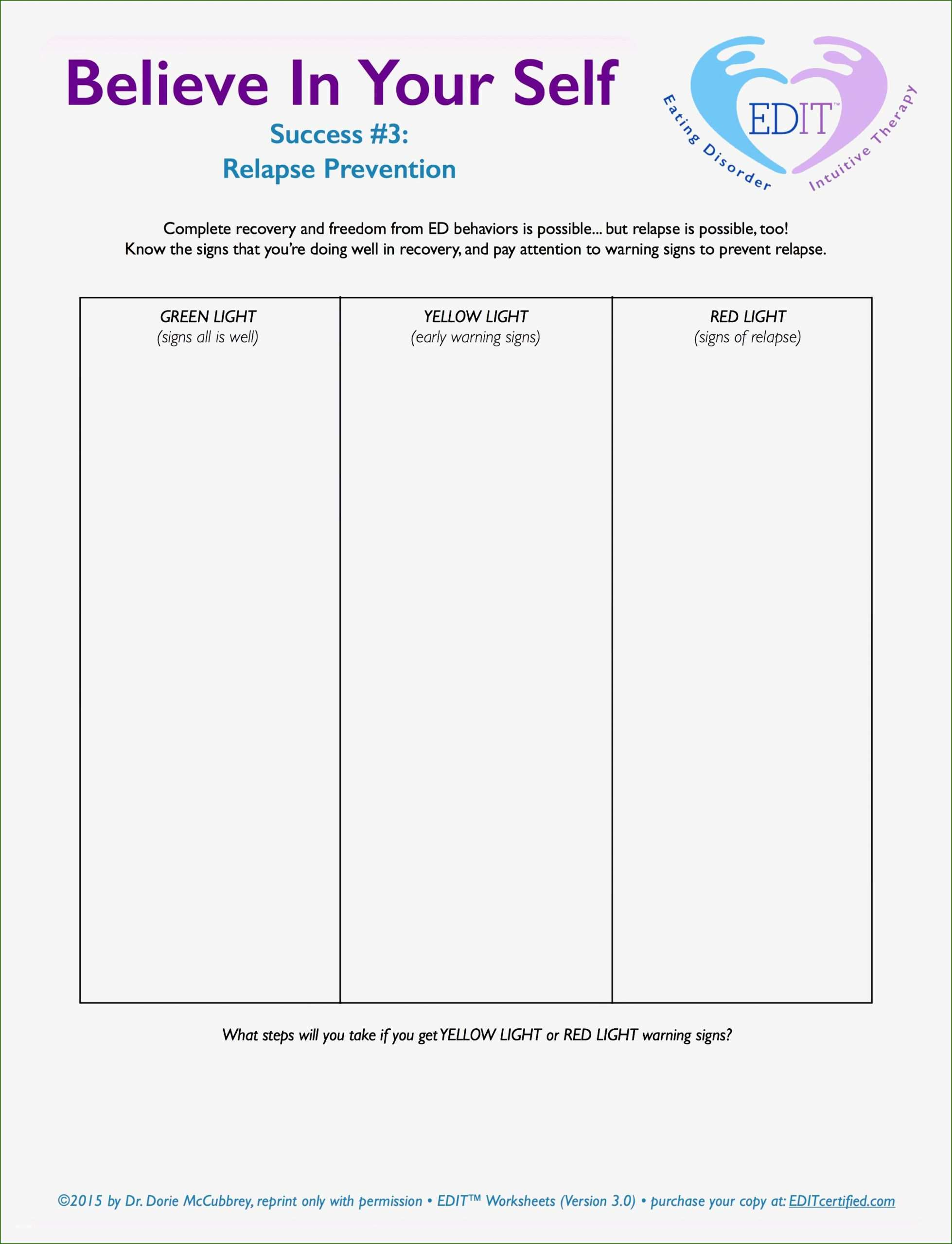 Formidable Relapse Prevention Plan Template You Ll