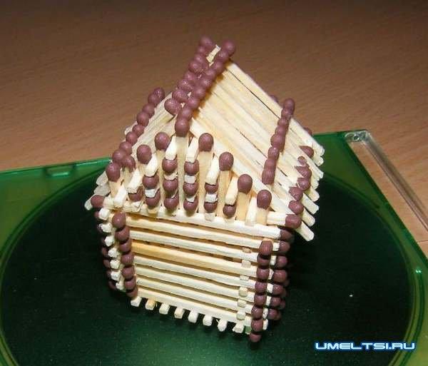 Ngôi nhà làm từ các trận đấu tự làm