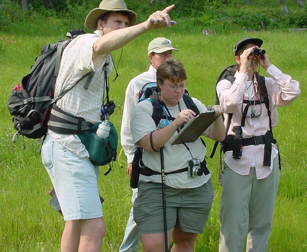 Vegetation mapping field work at Glacier National Park