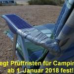 TÜV legt Prüffristen für Campingmöbel ab 1. Januar 2018 fest!