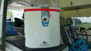 tested by UMIWO: Unsere aufblasbare Kühltasche im Camper