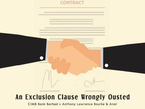 small resolution of what does not seem to have been decided in all the established common law jurisdictions is that an exclusion clause would be considered as an ouster of the