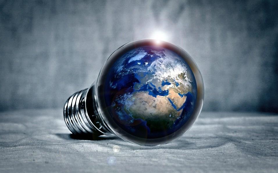globe in bulb