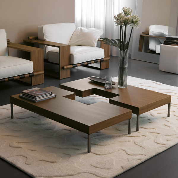 Porada Puzzle Coffee Table  Cocktail Table  Wooden