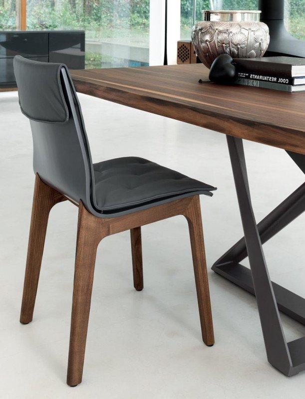 Bontempi Alfa Wooden Chair  Contemporary Dining Room