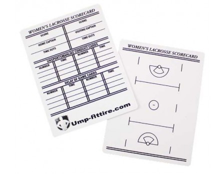 Women's Lacrosse Referee Reusable Information / Game Card