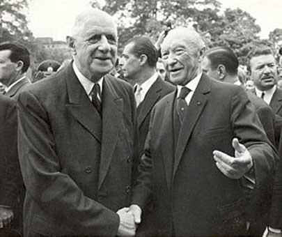 De Gaulle Adenauer