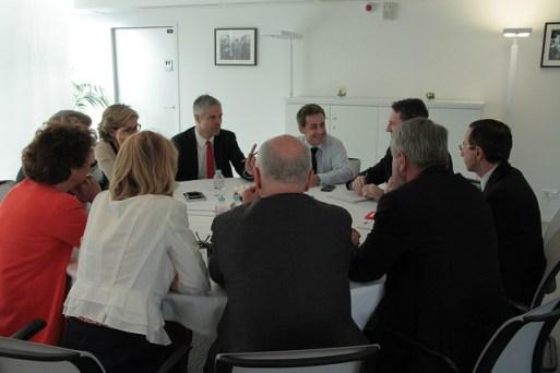 Reunion Sarkozy chefs de file regionaux ES c